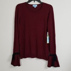 CeCe Nouveau Chic Bell Sleeve Sweater Size Large